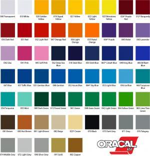 Adesivo Vinil Colorido Vinil  Sem impressão / Somente corte   Digite cod. da cor ao finalizar compra.