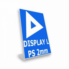 Display em L Poliestireno 2mm    Dobra L